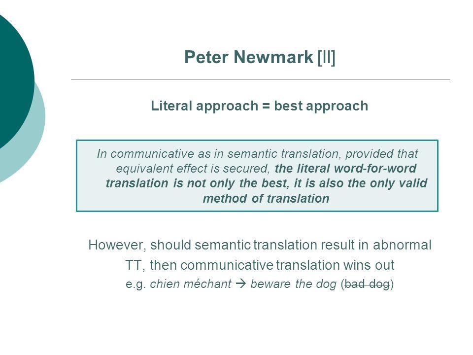 Literal approach = best approach