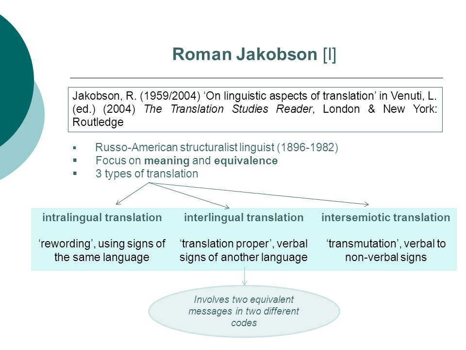 intralingual translation