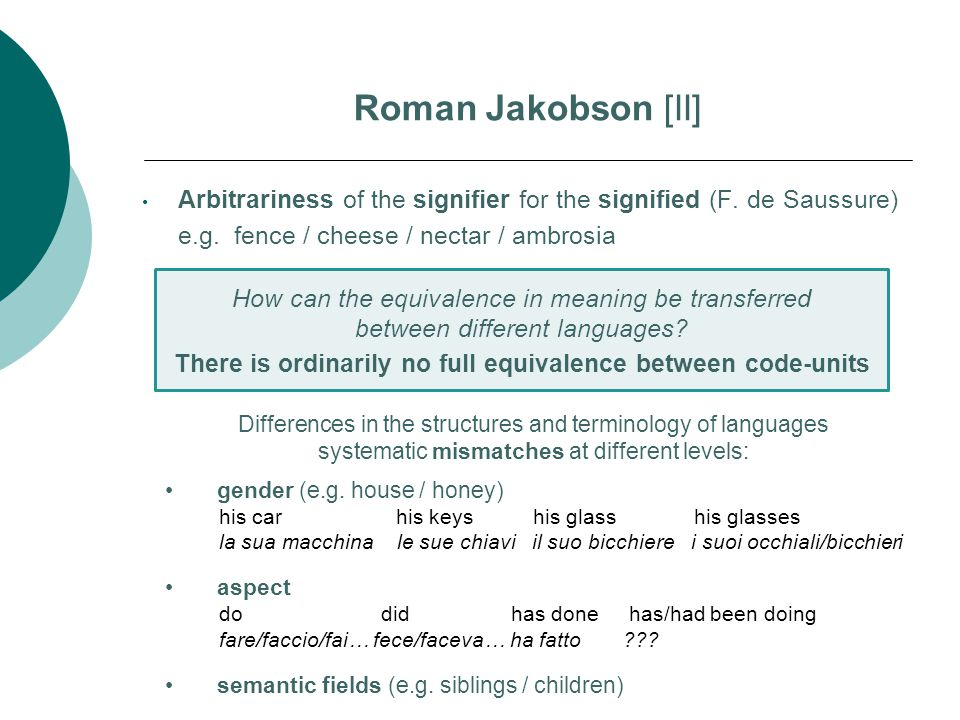 There is ordinarily no full equivalence between code-units