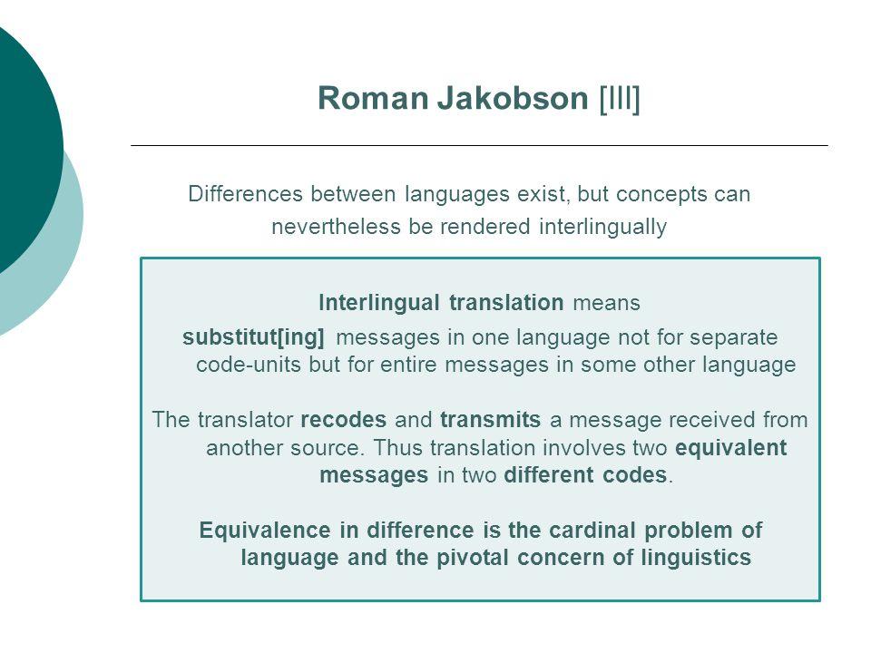 Interlingual translation means