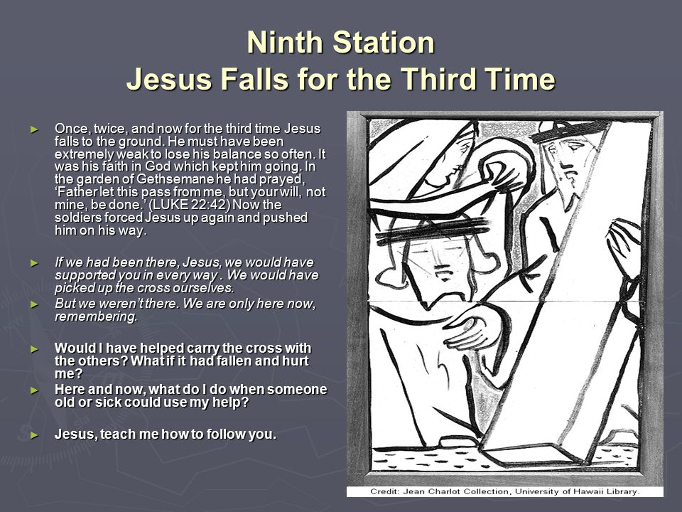 Ninth Station Jesus Falls for the Third Time