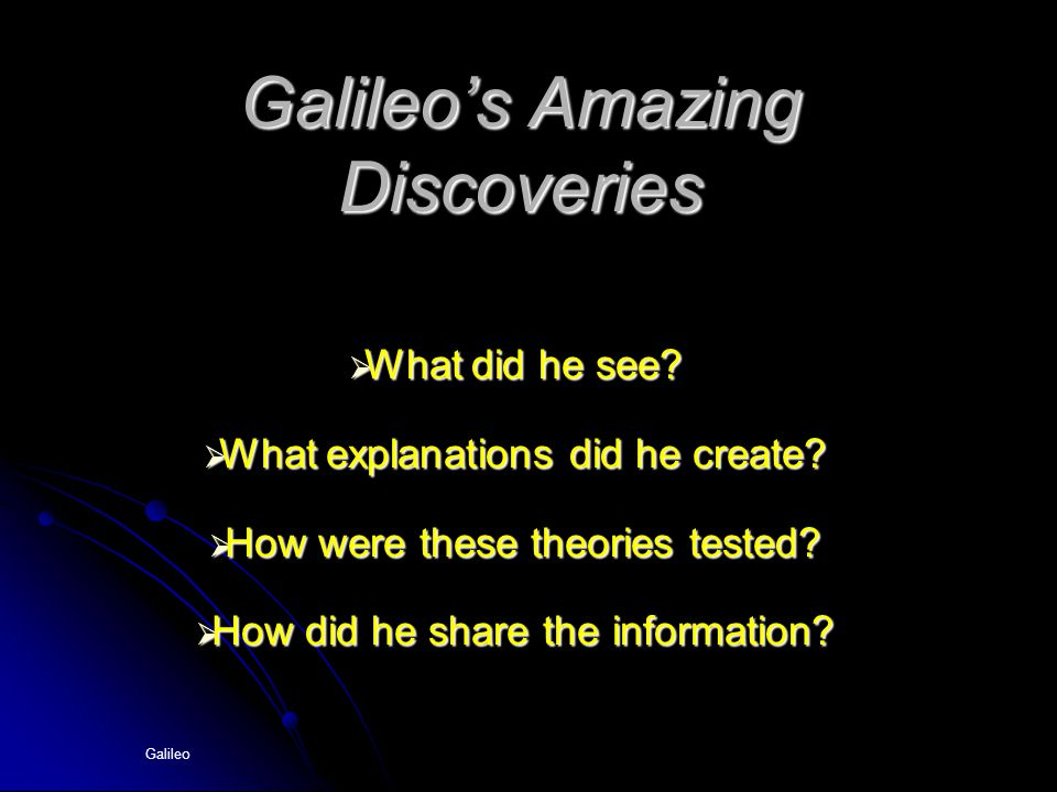 Galileo's Amazing Discoveries