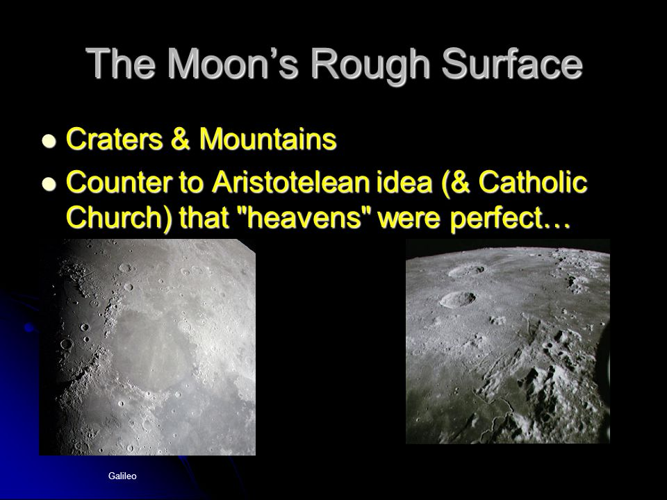 The Moon's Rough Surface