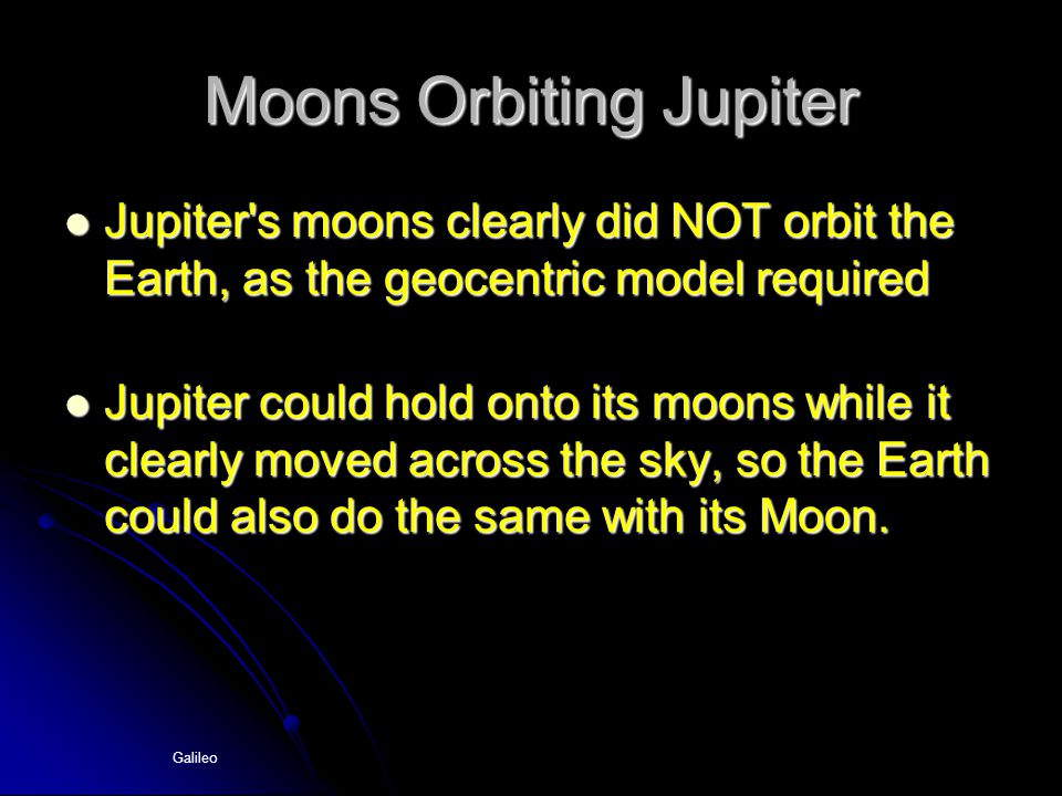 Moons Orbiting Jupiter