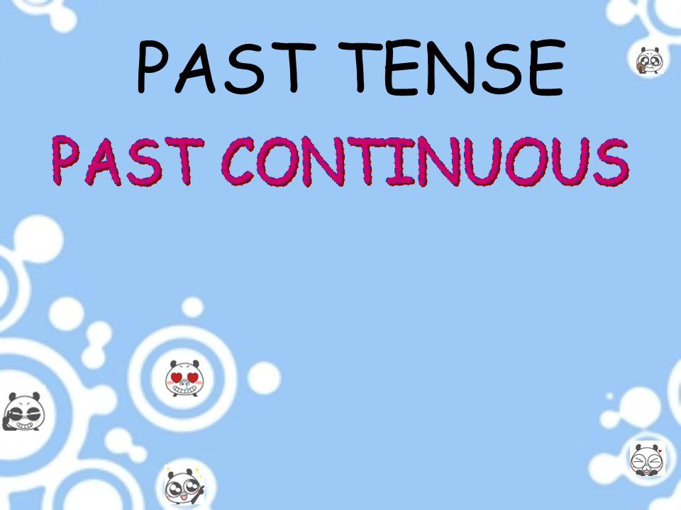 PAST TENSE PAST CONTINUOUS