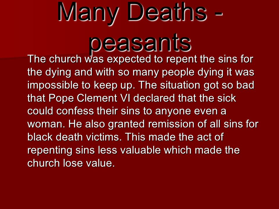 Many Deaths - peasants
