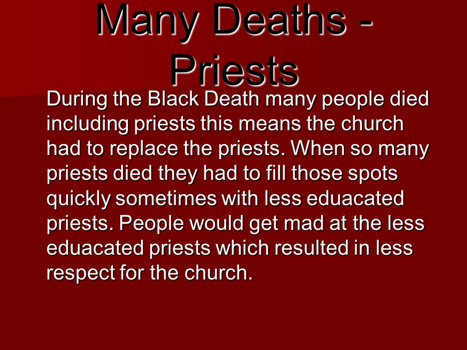 Many Deaths - Priests
