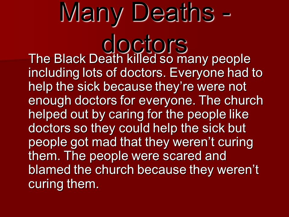 Many Deaths - doctors