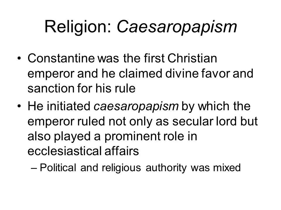 Religion: Caesaropapism