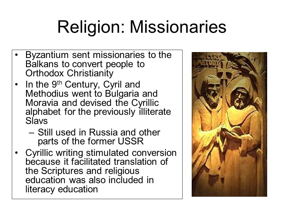 Religion: Missionaries