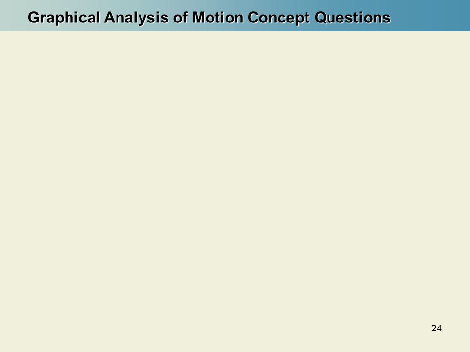 Graphical Analysis of Motion Concept Questions