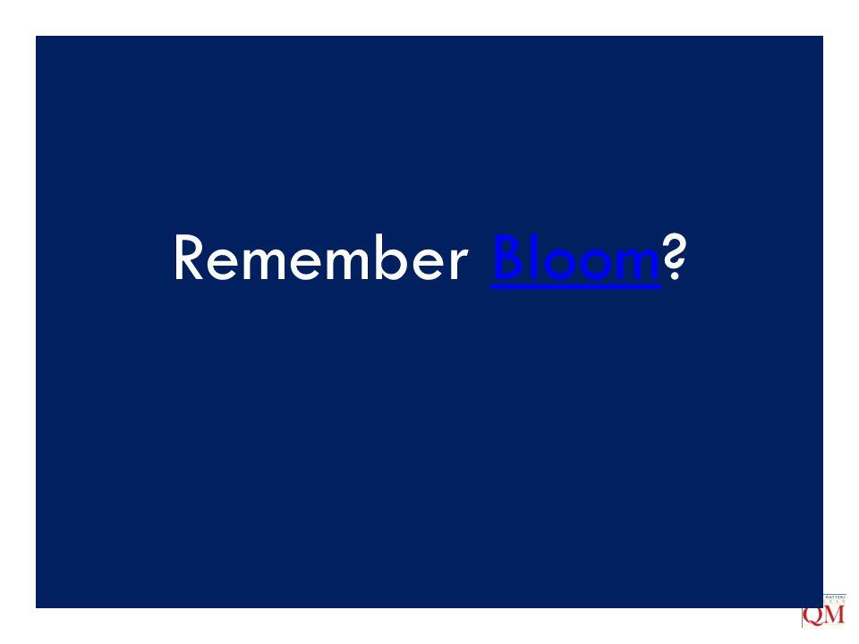 Remember Bloom