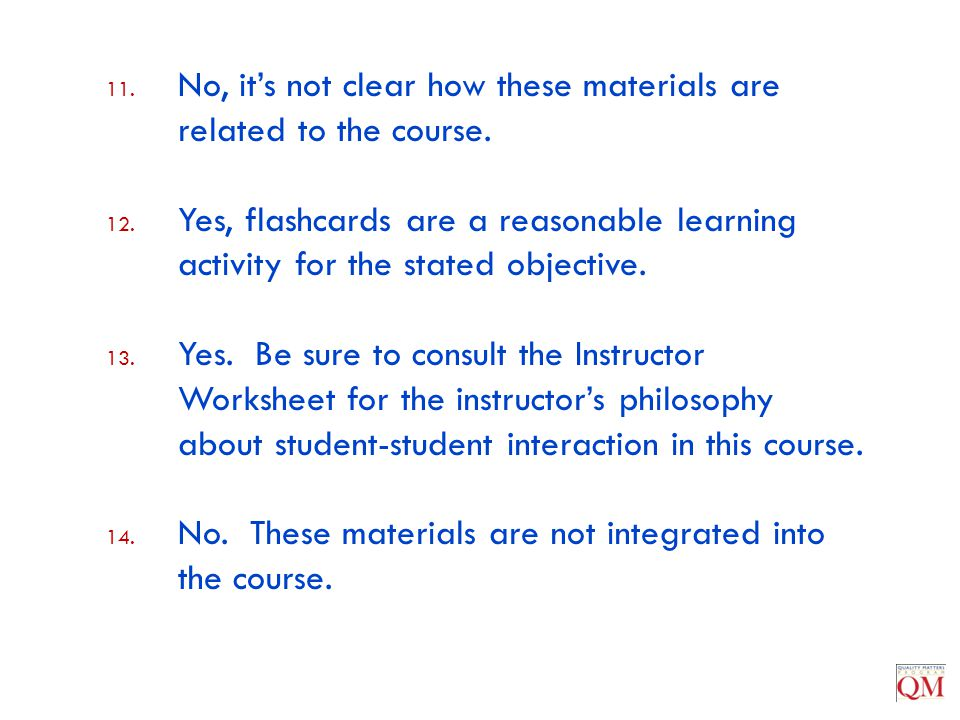 No, it's not clear how these materials are related to the course.