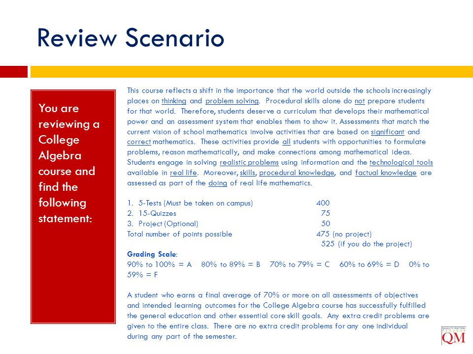 Review Scenario