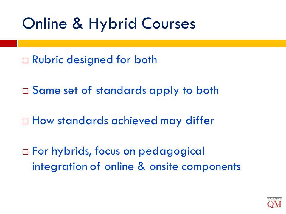 Online & Hybrid Courses