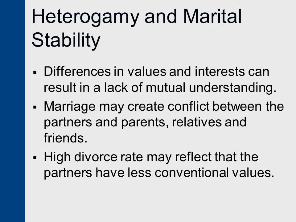 Heterogamy and Marital Stability