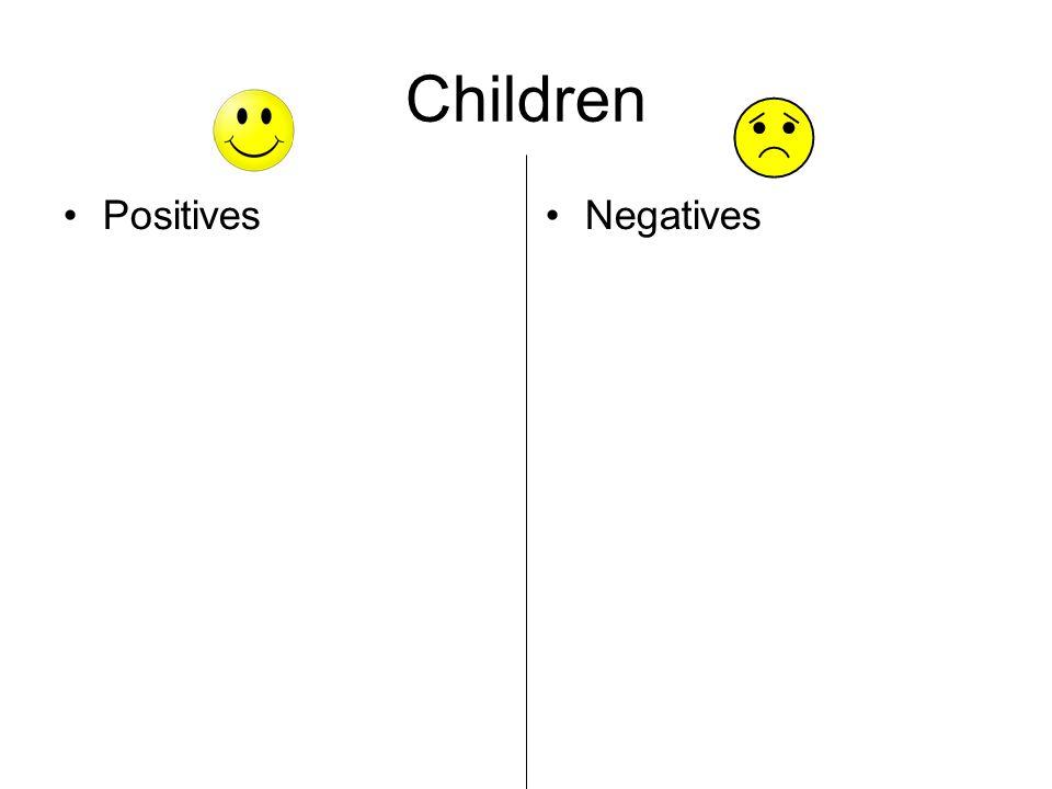 Children Positives Negatives