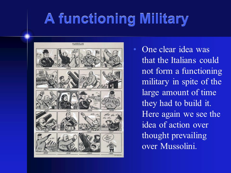 A functioning Military