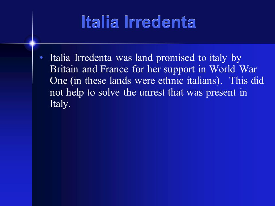 Italia Irredenta
