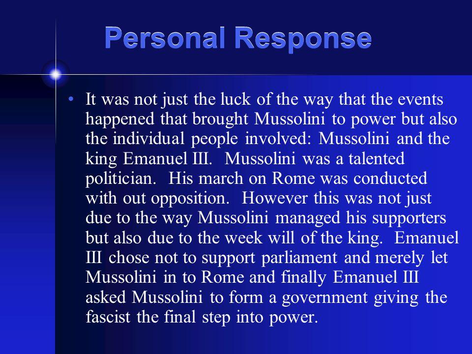 Personal Response