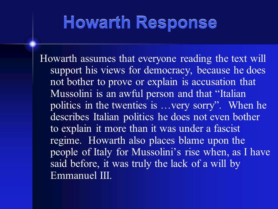 Howarth Response