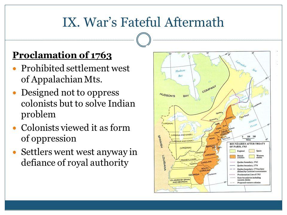 IX. War's Fateful Aftermath