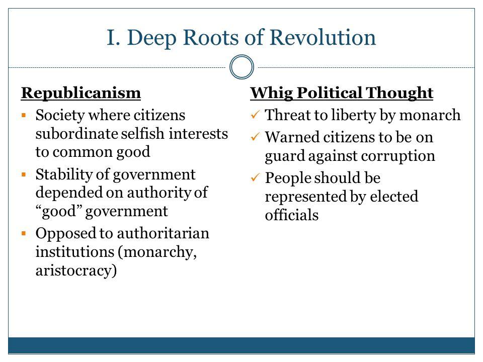 I. Deep Roots of Revolution