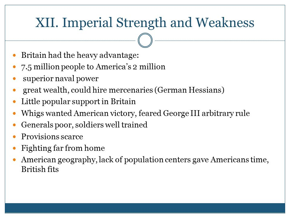 XII. Imperial Strength and Weakness
