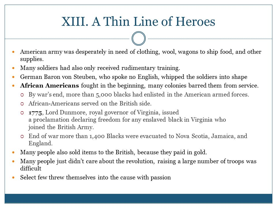 XIII. A Thin Line of Heroes