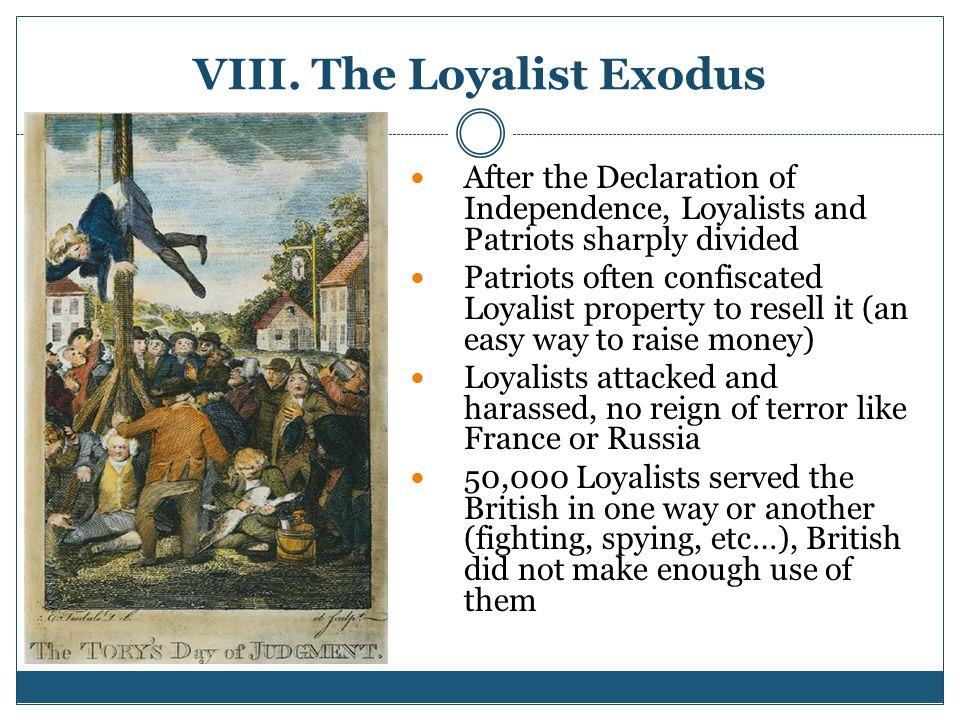 VIII. The Loyalist Exodus