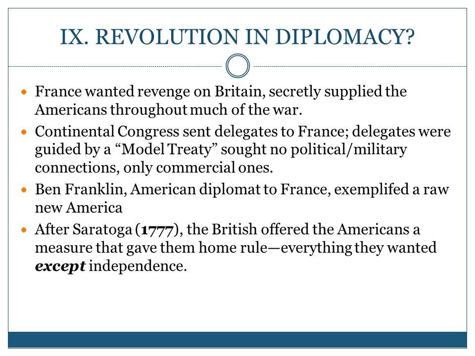 IX. REVOLUTION IN DIPLOMACY