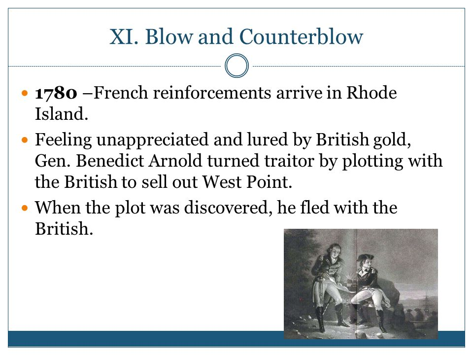 XI. Blow and Counterblow