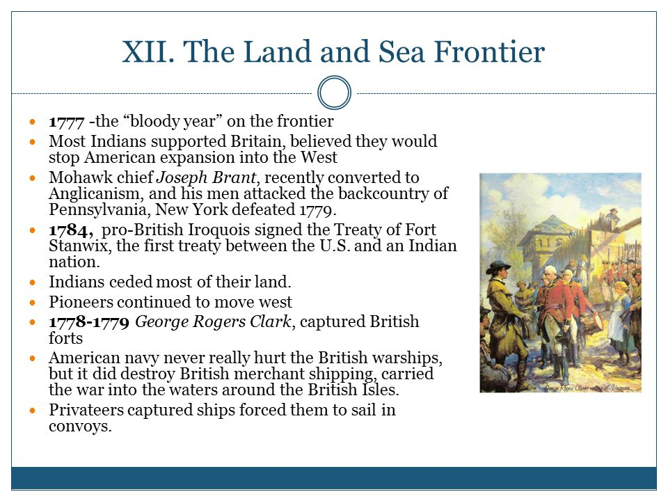 XII. The Land and Sea Frontier