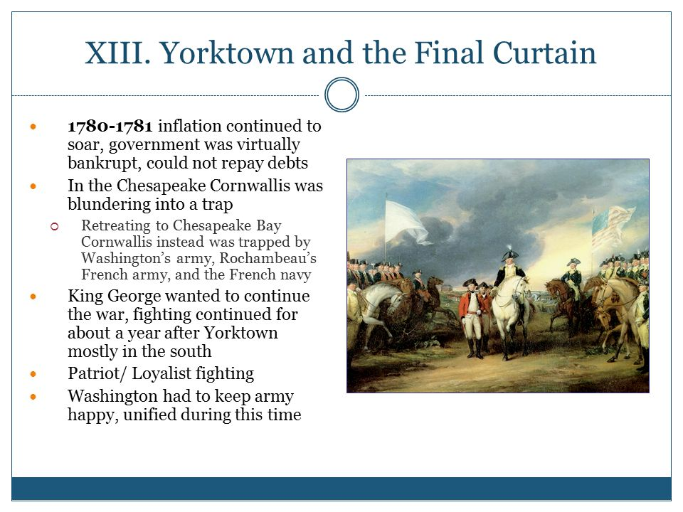 XIII. Yorktown and the Final Curtain