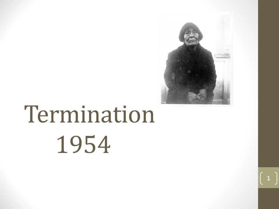 Termination 1954