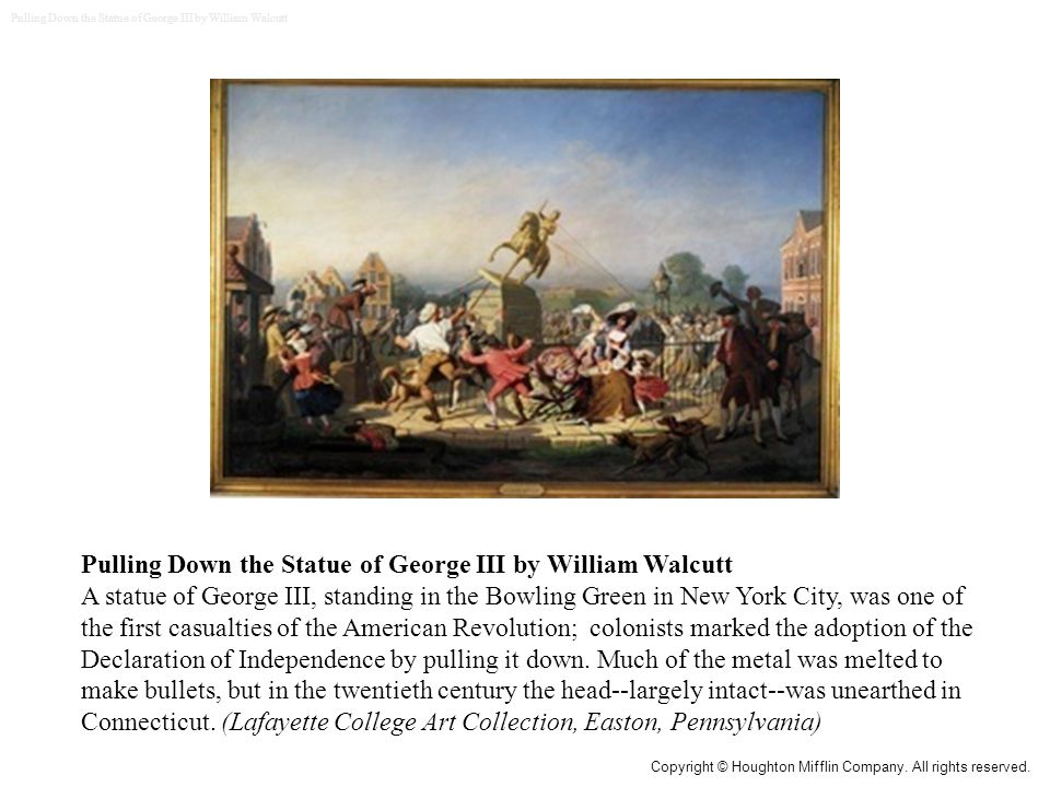 Pulling Down the Statue of George III by William Walcutt