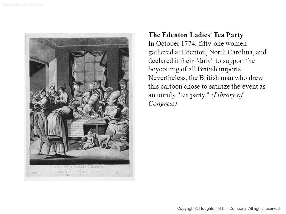 The Edenton Ladies Tea Party