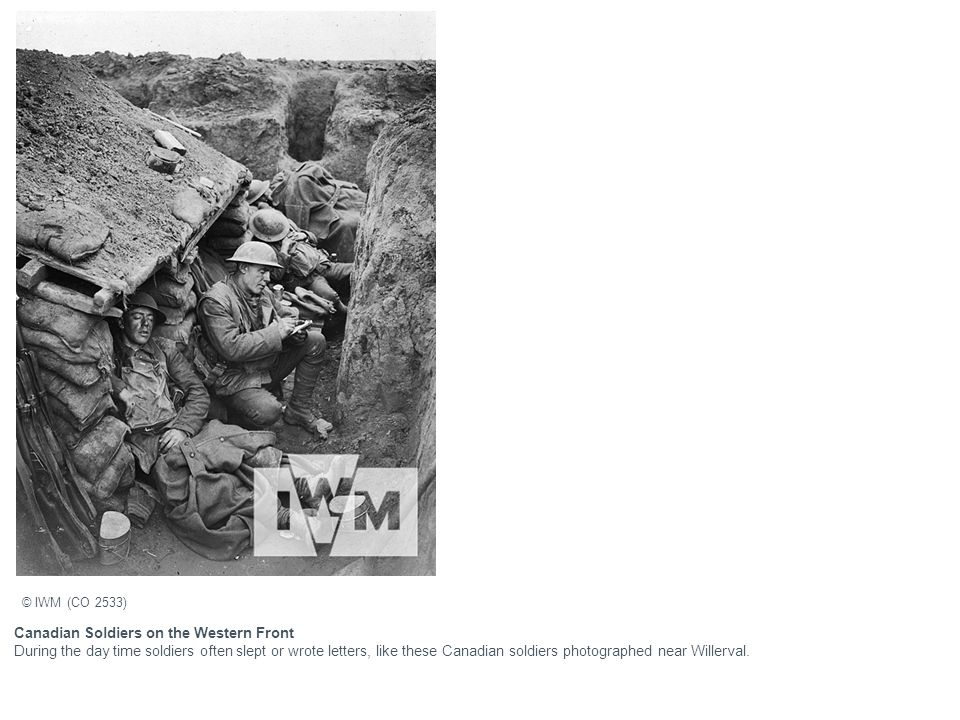 Canadian Soldiers on the Western Front