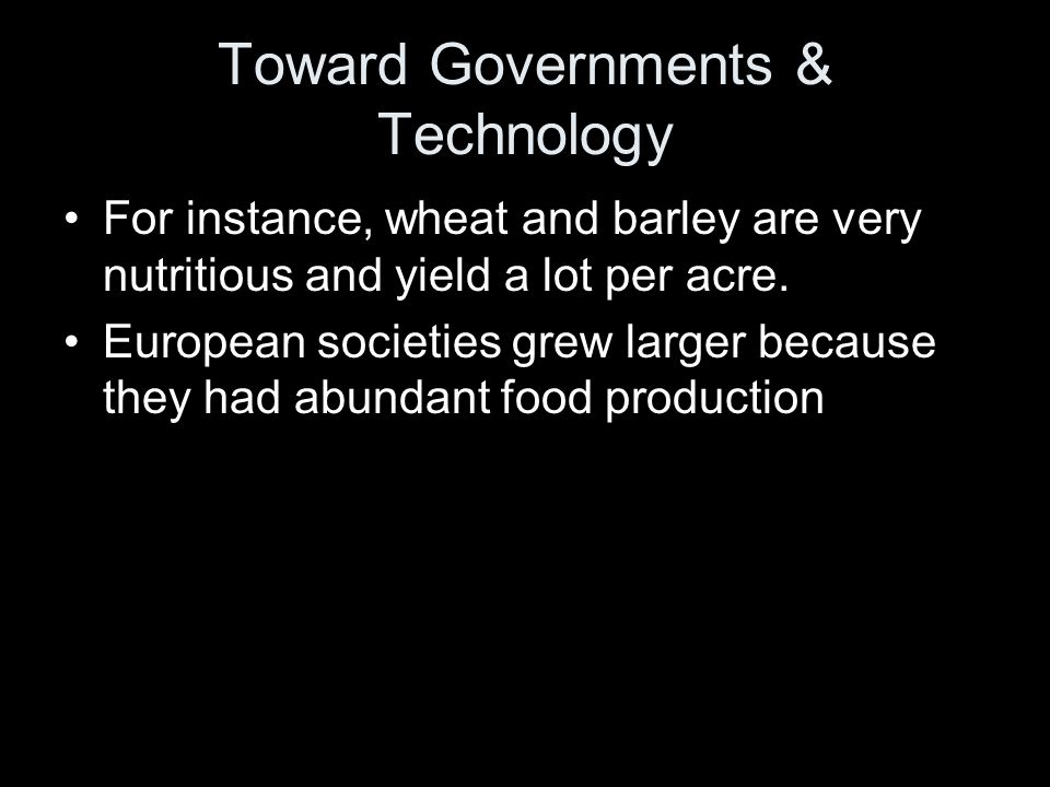 Toward Governments & Technology