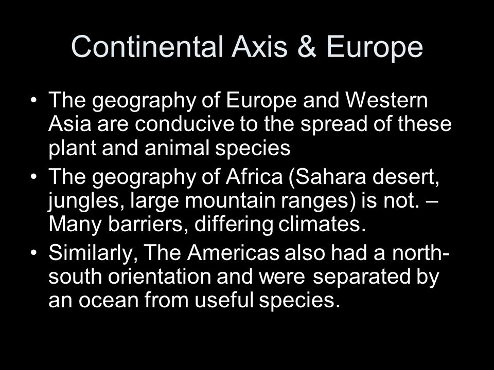 Continental Axis & Europe