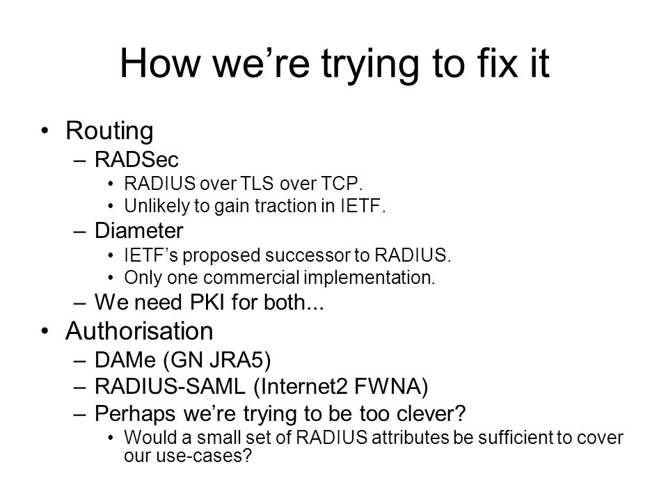 How we're trying to fix it