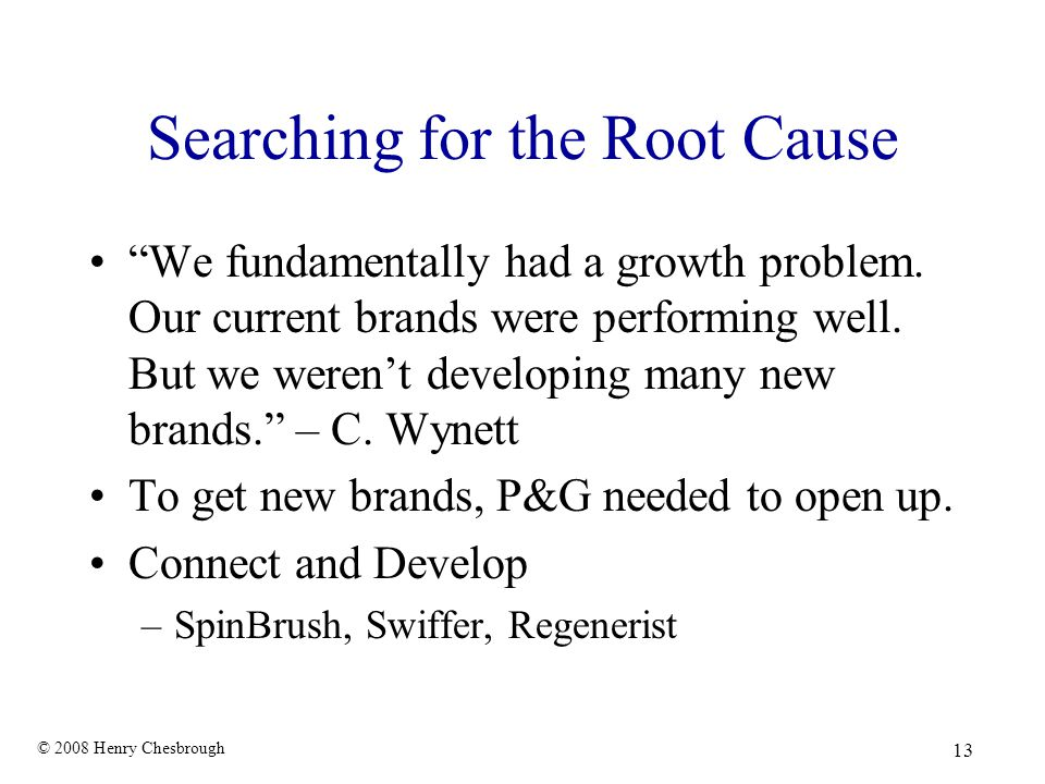 Searching for the Root Cause