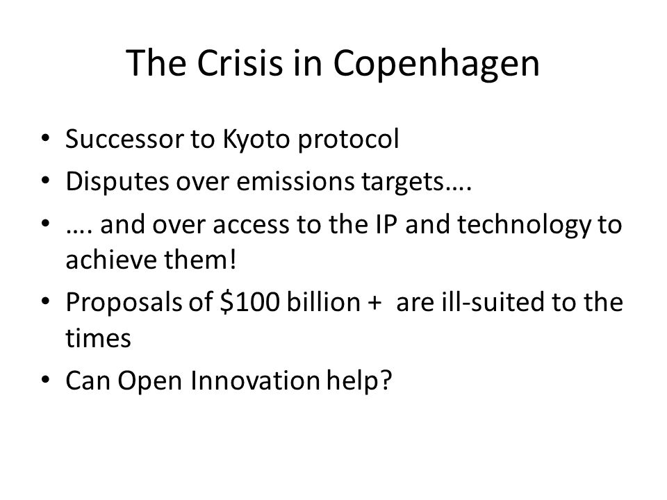 The Crisis in Copenhagen