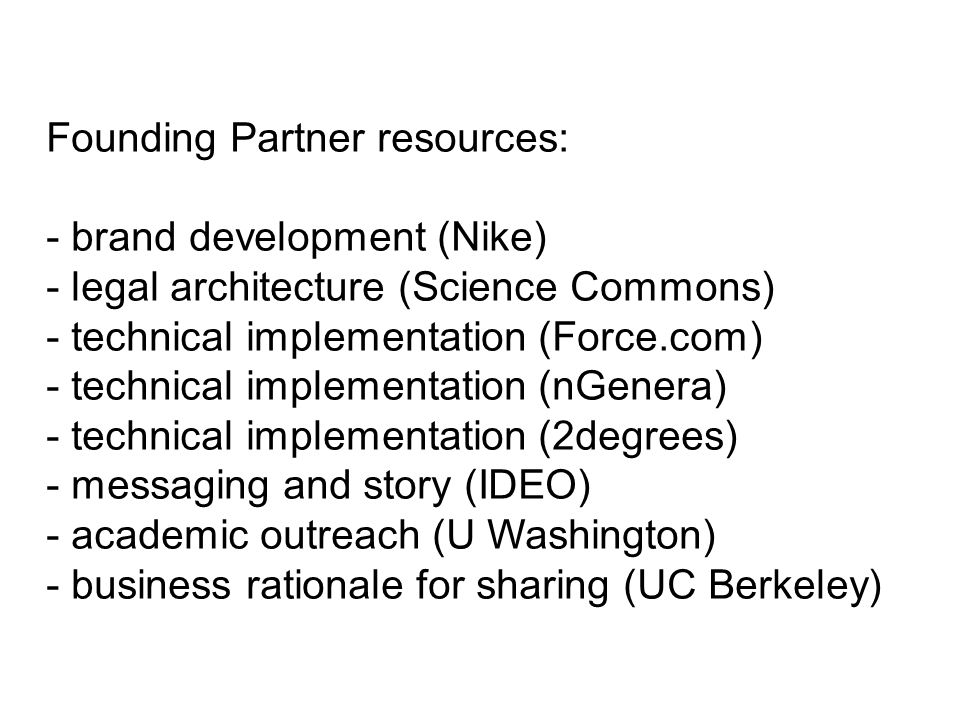 Founding Partner resources: