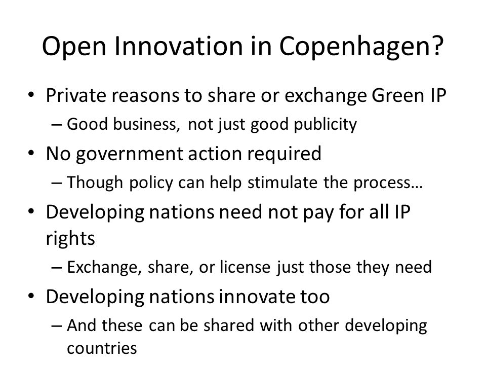 Open Innovation in Copenhagen