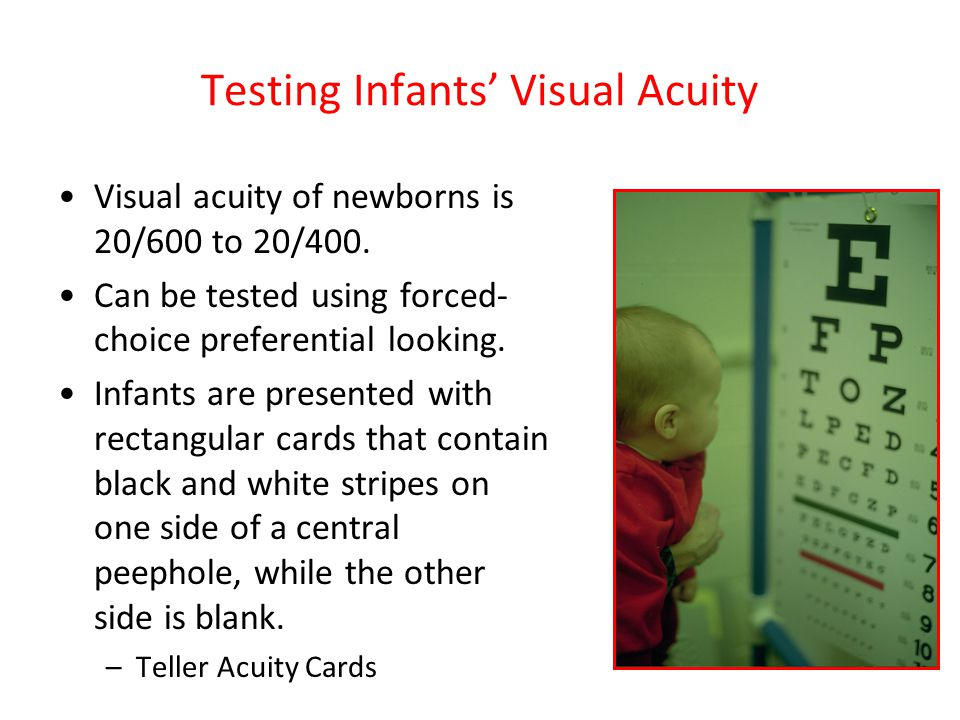 Testing Infants' Visual Acuity