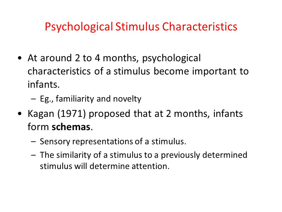 Psychological Stimulus Characteristics