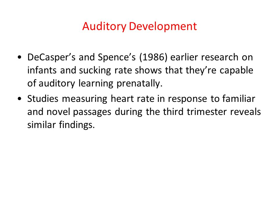 Auditory Development