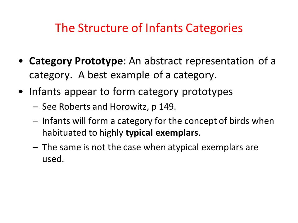 The Structure of Infants Categories