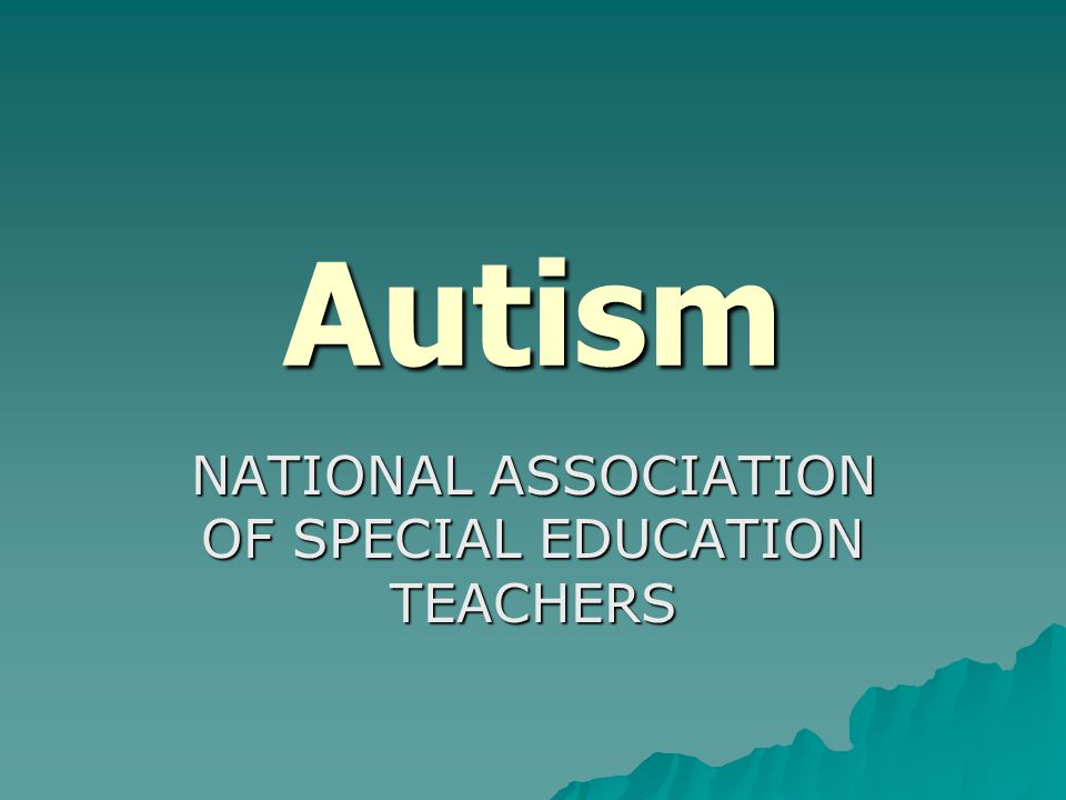 NATIONAL ASSOCIATION OF SPECIAL EDUCATION TEACHERS